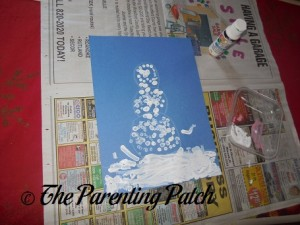 Cotton Swab Painted Snowman
