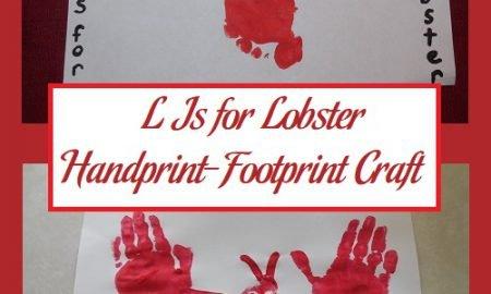 L Is for Lobster Handprint-Footprint Craft