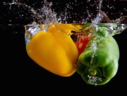 Peppers Falling into Water
