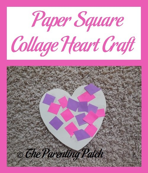 Paper Square Collage Heart Craft