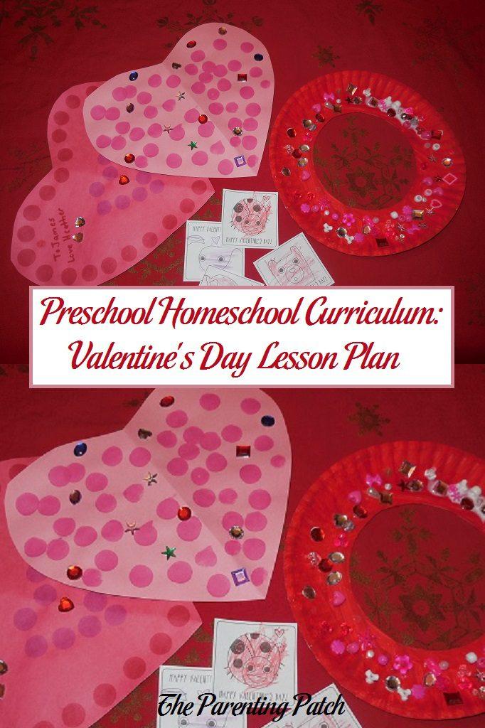 Preschool Homeschool Curriculum: Valentine's Day Lesson Plan