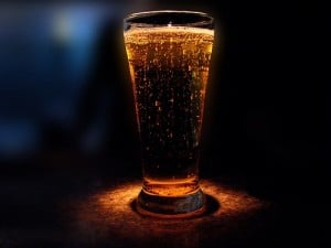 Bubbling Beer Glass