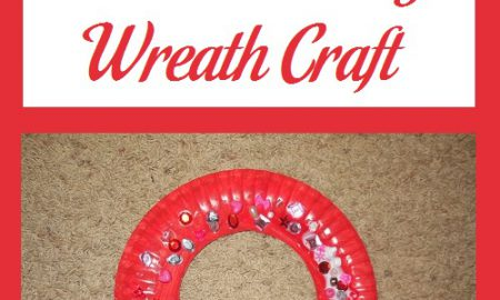 Paper Plate Valentine's Day Wreath Craft