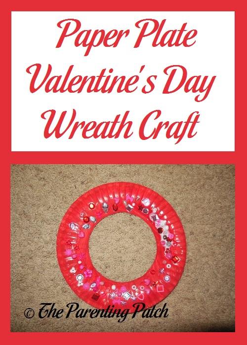 Paper Plate Valentine's Day Wreath Craft