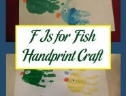 F Is for Fish Handprint Craft