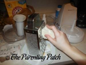 Grating the Meliora K No Frills Soap Bars