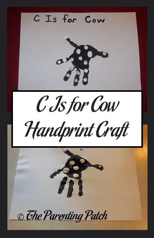 C Is for Cow Handprint Craft