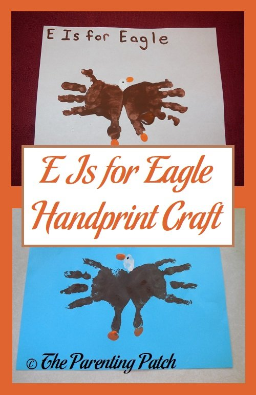 E Is for Eagle Handprint Craft