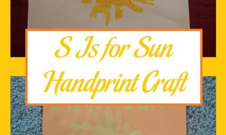 S Is for Sun Handprint Craft