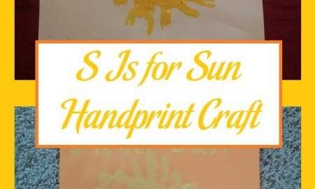 S Is for Sun Handprint Craft