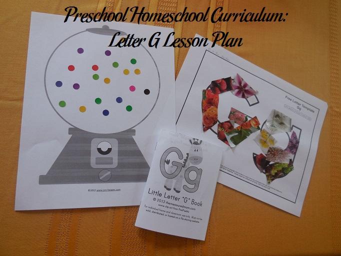 Letter G Preschool Activities