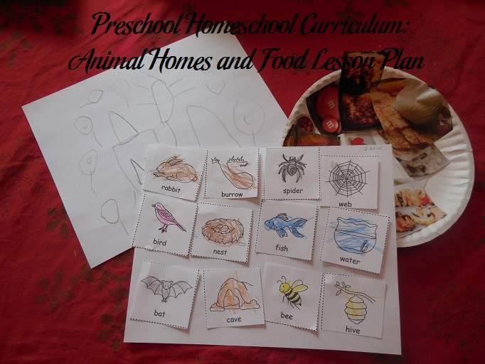 Animal Homes and Food Preschool Activities
