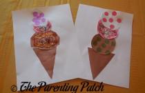 Paper Ice Cream Cone Craft