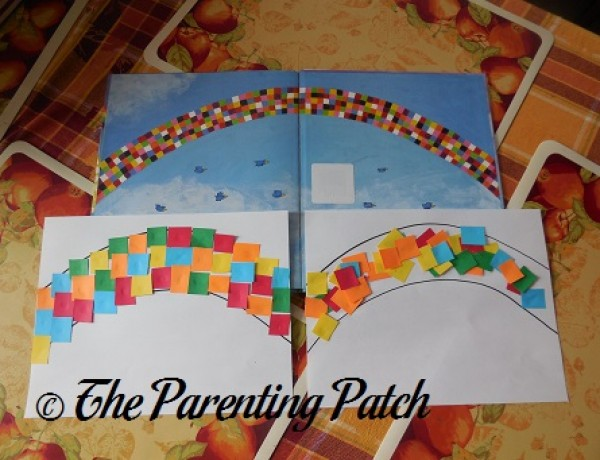 'Elmer and the Rainbow' Paper Rainbow Craft