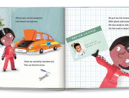 Inside Pages of 'Speedster' from I See Me! Personalized Children's Books