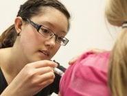 Nursing Student Administering Flu Shot