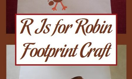 R Is for Robin Footprint Craft