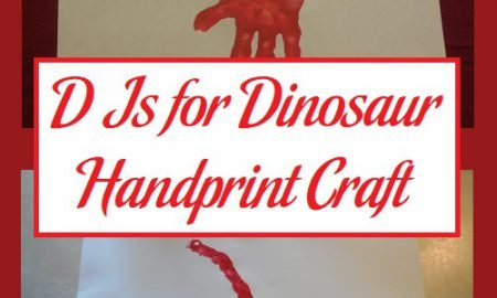 D Is for Dinosaur Handprint Craft