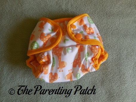 Front of Blueberry Mini Coverall Newborn Diaper Cover