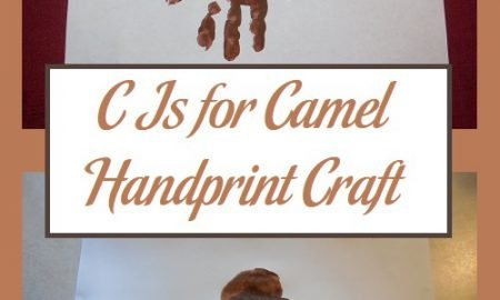 C Is for Camel Handprint Craft