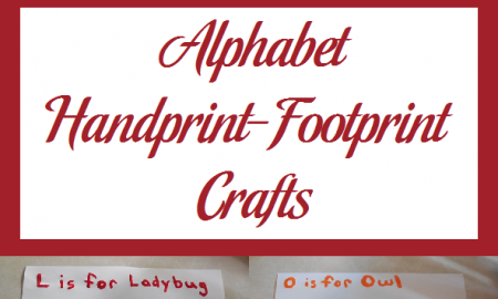 Alphabet Handprint-Footprint Crafts