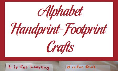 Alphabet Handprint-Footprint Crafts
