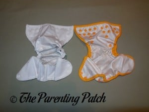 Interiors of the Capri and Blueberry Mini Coverall Newborn Diaper Covers