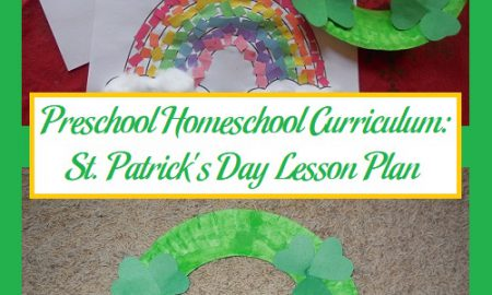Preschool Homeschool Curriculum: St. Patrick's Day Lesson Plan