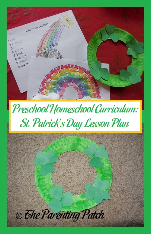 Preschool Homeschool Curriculum St Patricks Day Lesson Plan