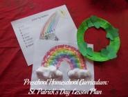 Preschool Homeschool Curriculum: St. Patrick's Day Lesson Plan
