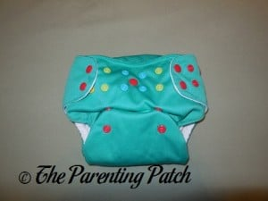 Front of Happy Laladays Lalabye Baby One-Size Cloth Diaper