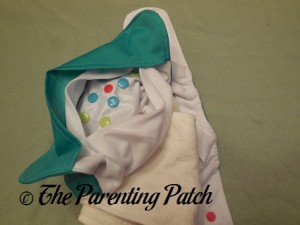 Inside Pocket of Happy Laladays Lalabye Baby One-Size Cloth Diaper 2