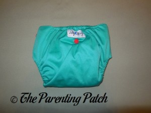 Back of Happy Laladays Lalabye Baby One-Size Cloth Diaper