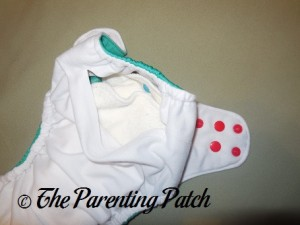 Inside Pocket of Happy Laladays Lalabye Baby One-Size Cloth Diaper 1