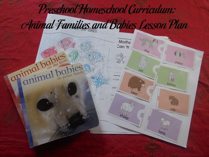 Animal Families and Babies Preschool Activities