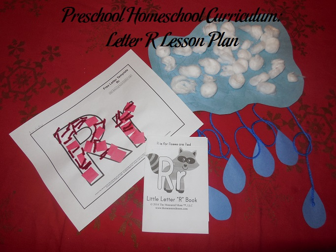 preschool homeschool curriculum  letter r lesson plan