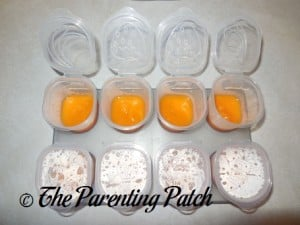 Homemade Sweet Potato Baby Food in Freezer Containers