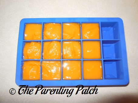 Homemade Sweet Potato Baby Food in Silicone Ice Cube Trays