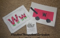 Preschool Homeschool Curriculum: Letter W Lesson Plan