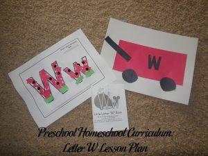 Letter W Preschool Activities