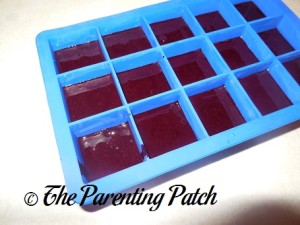 Homemade Blueberry Baby Food in Silicone Ice Cube Trays