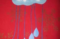 Construction Paper Raincloud Craft