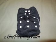 Front of Thirsties One-Size All-in-One Cloth Diaper on Large Rise