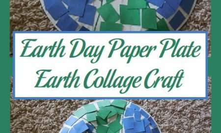 Earth Day Paper Plate Earth Collage Craft