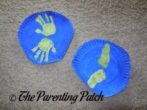 Earth Day Paper Plate Handprint-Footprint Earth Craft