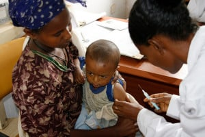 Young Child Receiving Vaccine