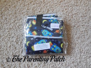 Spaceship ecoAble Wet/Dry Cloth Diaper Pail Bag with Handles in Package