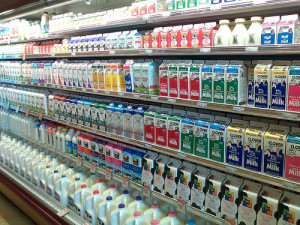 Milk Shelves at Whole Foods