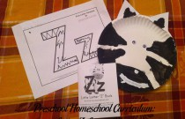 Preschool Homeschool Curriculum: Letter Z Lesson Plan
