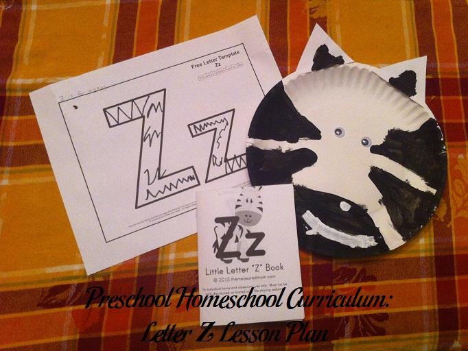 Letter Z Preschool Activities